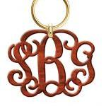 Monogram Acrylic Keychain ..