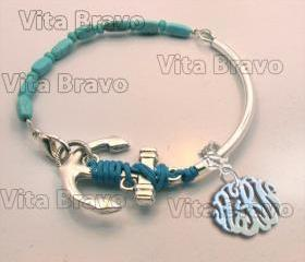 Monogram Bracelet Hand Made Custom Pearl Initials Personalized K Love Jewelry Acrylic Bracelet Earrings Keychains