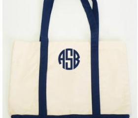 Favorite Like this item? Add it to your favorites to revisit it later. Monogrammed Tote Bag Embroidered Gift Bridesmaids, Teachers, Beach, Boat, Anchor, Sea, Heavy Cotton Canvas Bag